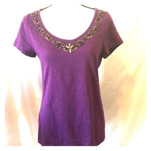 St Johns Bay bejeweled neckline top
